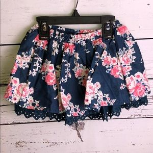 2T Blue and Pink Skirt